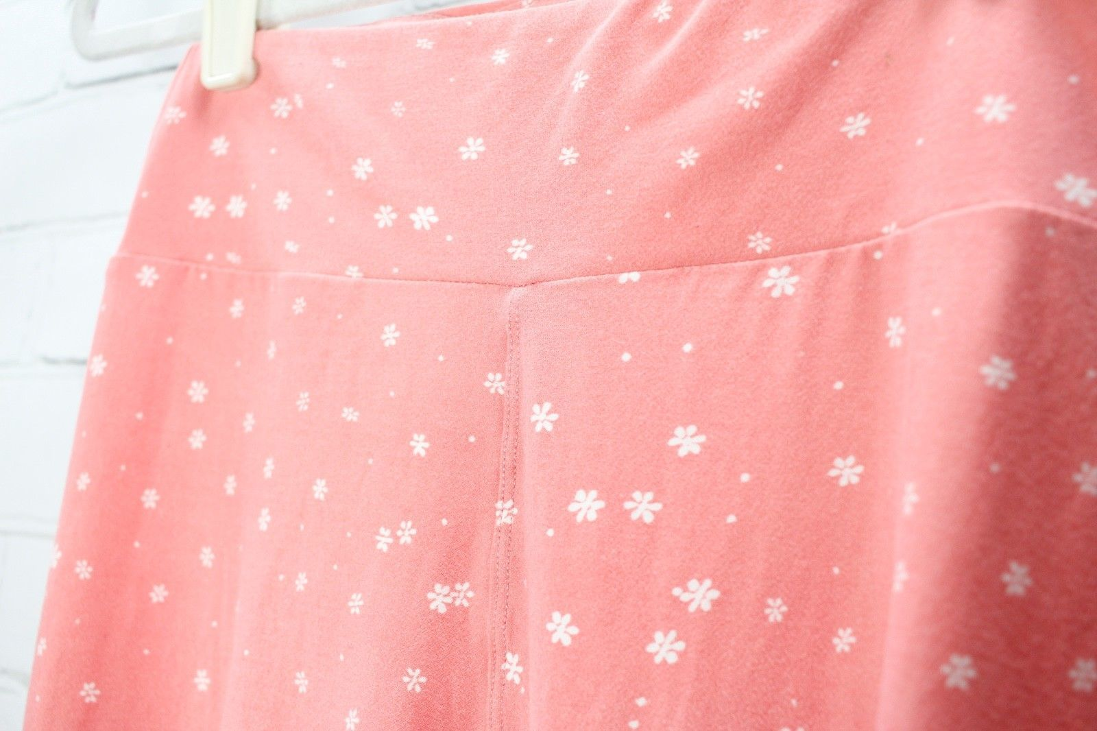 LULAROE Leggings Pink Floral Print OS One Size - Lot of 2 image 8