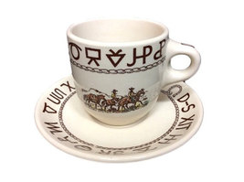 Wallace China Vintage Cup & Saucer | Westward Ho Coffee Cup Saucer  - $59.99