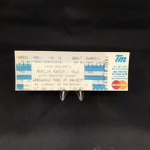 Marilyn Manson Hole Monster Magnet Arrowhead Pond Concert Ticket Stub Vt... - $15.84