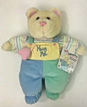 Baby B/'Gosh Soft Teddy Bear Pastel Velour Plush Lovey