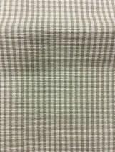 Khaki Ginham Upholstery Drapery Fabric 4 yards - $57.00