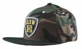 KR3W Men's Camo FTW Fu$k the World Blood and Concrete Snapback Baseball Hat NWT image 2
