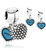 Pandora Piece of My Heart Mother Son Dangle Bead 791152EN08 - $60.73