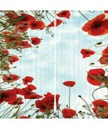 Curtains Poppy Flowers Border Print Backdrop 6262 - $38.09