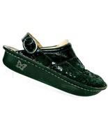 Alegria Women's Seville Black Posy Suede Clog Shoes Size 40 EUR US 9 - 9.5 - $52.46