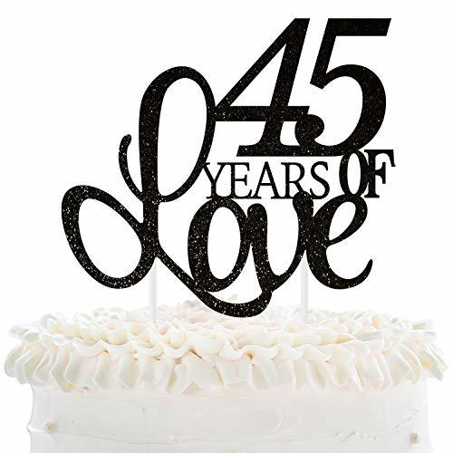 Forty Fifth Wedding Anniversary Gifts: 45 Years Of Love Cake Topper 45th Happy Birthday Forty