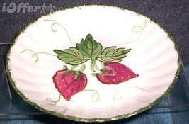 Blue Ridge Southern POTTERY-- Wild Strawberry Bowl - $14.95