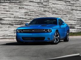 2015 Dodge Challenger 24X36 inch poster, front, blue, mopar - $18.99