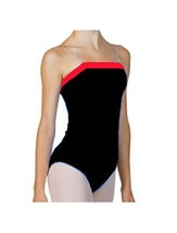 Bal Togs 6003 Women's Medium (8-10) Black With Pink Trim Camisole Leotard - $18.99