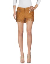 New Hot Fringed Sexy Style Women's Genuine Soft Lamb Skin Suede Short  Pants