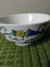 Vintage Chinese Porcelain Bowl, Hand Painted Butterflies, Flowers Gourds Asian B image 2