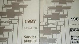 1987 GM Chevy Chevrolet Cavalier Service Shop Reparatur Manuell W Elektr... - $44.50