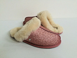 Ugg Scuffette Ii Sparkle Pink Wool Shearling Lined Slippers Us 11 / Eu 42 / Uk 9 - $73.87
