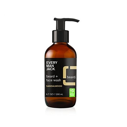 Every Man Jack Beard + Face Wash, Sandalwood, 6.7-ounce