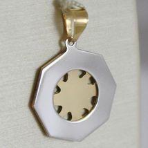 Pendentif en or Jaune Blanc 750 18K, Rose Des Vents , Boussole image 3