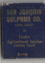 Vtg Strike on Matchbook  ~ San Joaquin Sulphur Co. ~ Lodi, Ca - $9.89
