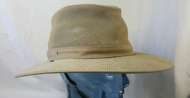HH Henschel Hat Co. Large Tan Woven Western Outback Style Sun Hat - $31.67