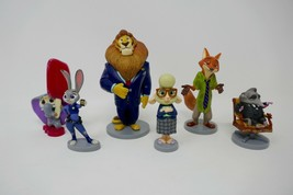 Disney Store Zootopia PVC Figure Figurine Playset Cake Toppers - $11.29