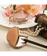 Vintage Bronze Metallic Heart Compact Mirrors Pack of 12 - $28.51