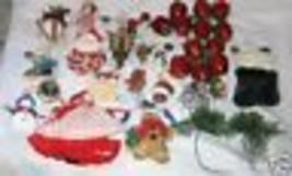 Lote 30 Surtido Árbol de Navidad Papá Noel Vacaciones Adornos Envío Grat... - $28.19