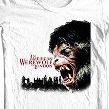 American Werewolf in London T-shirt 80s horror movie 100% cotton graphic tee image 1