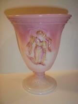 Fenton Glass Rosalene Pink Dancing Ladies Vase FFOGKC Limited Edition #64/64 - $145.02