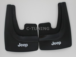 Universal car mud flaps with Jeep logos rear front snow guards 3D custom... - £22.80 GBP