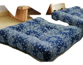 2021 HIGOGOGO Blue Mandala Square Floor Pillow, Bohemian Style Seating... - $56.99