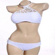 White Stylish Cut Out Knot Women Bikini Set - $25.00