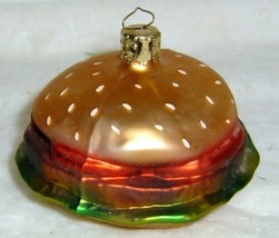 HAMBURGER - Glass Christmas Ornament ~ Made in Germany - $14.99