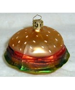 HAMBURGER - Glass Christmas Ornament ~ Made in Germany - $14.00