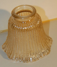 Vintage Iridescent Beaded Glass Ceiling Light Shade Shabby Beach Cottage... - $22.99