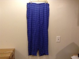 Casual Corner Blue PJ Bottom/Lounge Pants w Elastic Waistband Sz LG
