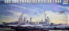 Trumpeter 1/350 Kit 05310 USS Heavy Cruiser SAN FRANCISCO CA-38 1944  image 1