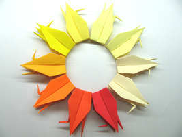 100 Large Ombre Colors Origami Cranes - $25.00