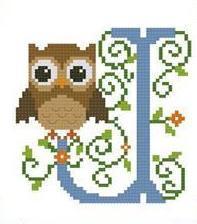 Hooties Alphabet J cross stitch chart Pinoy Stitch