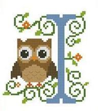 Hooties Alphabet I cross stitch chart Pinoy Stitch