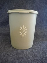 Tupperware 809 Servalier Canister Olive Green Daisy with Seal # 810 - $1.89