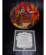 "1994 Disney Aladdin ""Aladdin In Love"" Collector Plate With Certificate - $34.99"