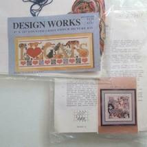 Cat Cross Stitch Kit Lot Of 2 Design Works 9226 Kappie Originals 2022 - $27.71
