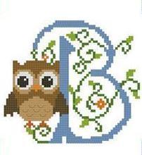 Hooties Alphabet B cross stitch chart Pinoy Stitch