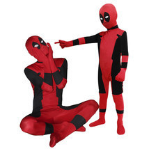 Deadpool Unisex Lycra Spandex Zentai Halloween Kids Children Costume Cos... - $46.99