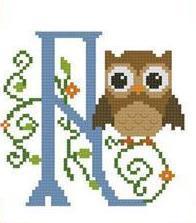 Hooties Alphabet A cross stitch chart Pinoy Stitch