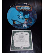 """1993 Disney Aladdin """"A Friend Like Me"""" Collector Plate With Certificate - $31.99"""