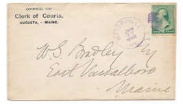 1889 Waterville ME Vintage Post Office Postal Cover - $9.95