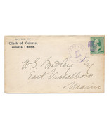 1889 Waterville ME Vintage Post Office Postal Cover - £7.57 GBP