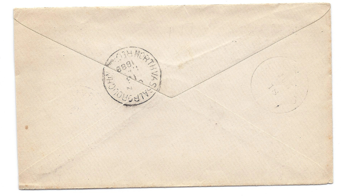 1889 Waterville ME Vintage Post Office Postal Cover