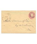 c1865 Hallowell ME Vintage Post Office Postal Cover - $9.95