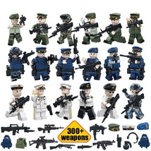 WW2 Navy Air Land Military Soldier With 300 Weapon Vest Knife Etc Fit Le... - $34.99