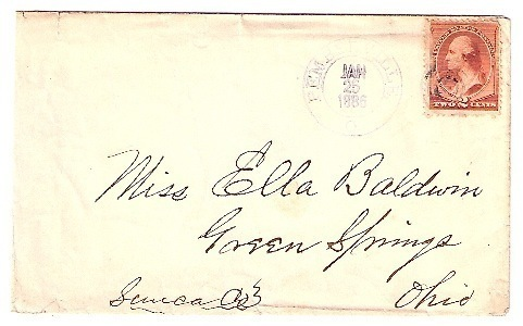 1886 Pemberville OH Vintage Post Office Postal Cover